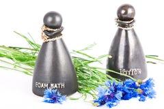 Baño y loción de la espuma Foto de archivo