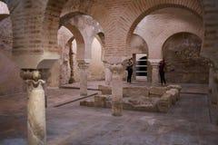 Baños árabes de Jaén Andalucía España imagen de archivo