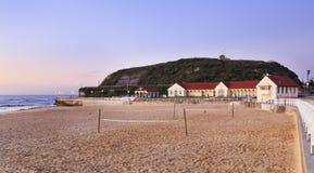 Baños de la playa de Newcastle Foto de archivo libre de regalías