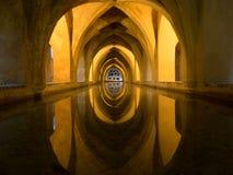 Baños de Maria De Padilla, Alcazar de Sevilla Fotografía de archivo