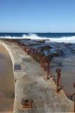Baños de Newcastle - Australia Imágenes de archivo libres de regalías