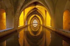 Baños en Royal Palace, Sevilla, España Fotos de archivo libres de regalías