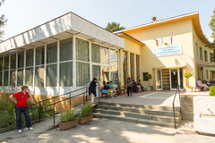 Baños minerales de Karlovo del sanatorio en Bulgaria imagen de archivo