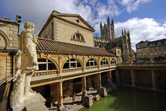 Baños romanos, ciudad del baño, Reino Unido Foto de archivo libre de regalías