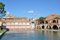 Baños romanos del balneario español en Tarragona Foto de archivo