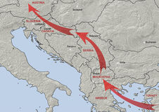 Bałkańska wędrowna trasa Fotografia Stock