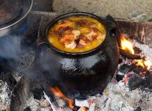 Bałkański tradycyjny gruby jedzenie Obraz Stock