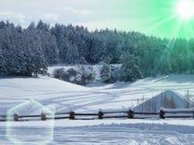 Bałkański zima krajobraz Zdjęcia Stock