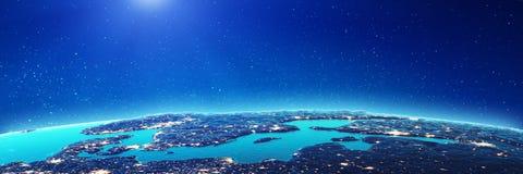 Bałtyccy miast światła zdjęcia stock