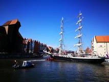 Bałtycka żagiel parada Artystyczny spojrzenie w roczników żywych colours Zdjęcia Stock