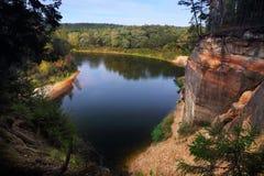 Bałtycka rzeczna dolina obrazy stock