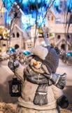 bałwan błyskotliwości zimy bożych narodzeń ornamentu srebra kryształ Zdjęcie Royalty Free