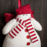 Bałwan Bożenarodzeniowa handmade zabawka Zdjęcie Stock