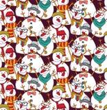 Bałwan mody modnisia koloru bezszwowy wzór royalty ilustracja