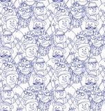 Bałwan mody modnisia zimy błękitny bezszwowy wzór royalty ilustracja