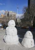 Bałwan postacie przy Madison kwadratem w Manhattan Zdjęcie Royalty Free