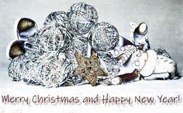 Bałwan zakrywający snowballs ilustracji