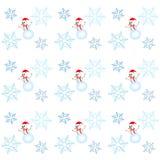 Bałwanu i płatka śniegu wzór royalty ilustracja