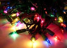 bańka świąteczne lampki Fotografia Stock