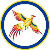 Bażanta Ptasiego ptactwa Woodcut Latający okrąg royalty ilustracja