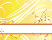 ba横幅花卉橙黄色 免版税库存照片