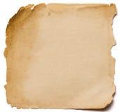 老纸难看的东西纹理,在白色ba隔绝的空的黄页 免版税库存照片
