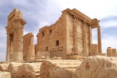 Ba'al寺庙在扇叶树头榈叙利亚的 免版税库存照片