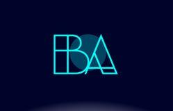 Ba b a blue line circle alphabet letter logo icon template vecto. Ba b a blue line circle letter logo alphabet creative company vector icon design template Stock Photos
