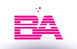 Ba b a pink purple line stripe alphabet letter logo vector templ. Ba b a alphabet letter logo pink purple line stripe company design template creative abstract Stock Photos