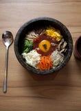 ba bibim食物韩文 库存图片