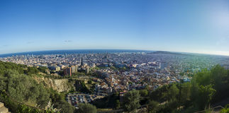Bańczasta panorama Barcelona, Hiszpania Obrazy Stock
