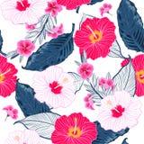 Ba de modèle, lumineux et frais floral sans couture à la mode d'été illustration stock