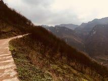 Ba de Tang de cun de croc de cha de Liu Xi Xiang elle secteur de touristes, comté de Yiliang, ville de Zhaotong, province de Yunn image stock