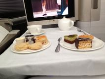 BA First. First Class Afternoon Tea Royalty Free Stock Images