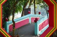 Ba Gua dans le jardin chinois au temple de la Thaïlande Image libre de droits