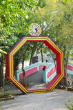 Ba Gua im chinesischen Garten an Thailand-Tempel Stockfoto