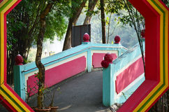 Ba Gua im chinesischen Garten an Thailand-Tempel Lizenzfreies Stockbild