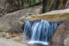 Ba Ho waterfall in jungle. Royalty Free Stock Photos