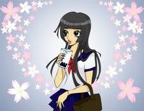 bańka dziewczyny herbaty ilustracja wektor