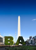 BA - Modern face of Buenos Aires Royalty Free Stock Photo