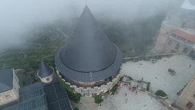 Ba Na Hills Da Nang Vietnam. Architecture in the park in Ba Na Hills stock footage