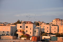 BA Negev, Ισραήλ Arara - κατοικημένα κτήρια σε Αραβικά στην τακτοποίηση Στοκ εικόνα με δικαίωμα ελεύθερης χρήσης