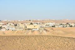 BA Negev, Ισραήλ Arara - κτήρια σε Αραβικά στην τακτοποίηση Στοκ Εικόνες