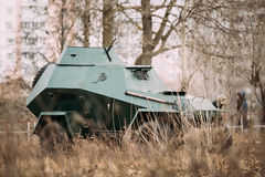 BA-64 Is A Small Lightly Armoured Soviet Scout Car Stands In Aut. Umn Forest Royalty Free Stock Image