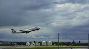 BA 747 taking off stock photography