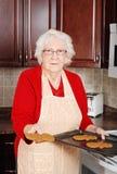 bałwan piernikowa starsza kobieta Obraz Royalty Free