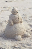 Bałwan z piaska Obraz Royalty Free