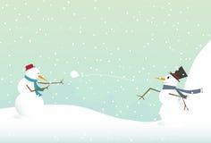 Bałwanu miotania snowball Zdjęcia Royalty Free