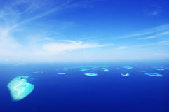 Baa Atoll Aerial Image Maldives Biosphere Stock Photo