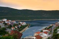 Baía, Bosna e Herzegovina de Neum Fotografia de Stock